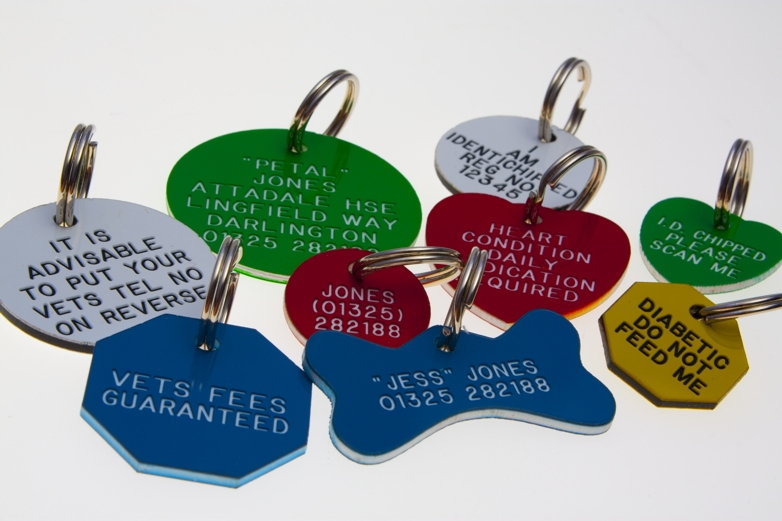 Acrylic Engraved Pet Id Tags