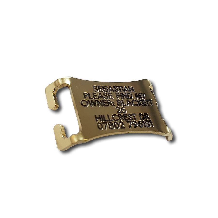 Easy Fit Brass Agility Dog tag