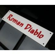 Silver Aluminium Stable Name Plates, various sizes